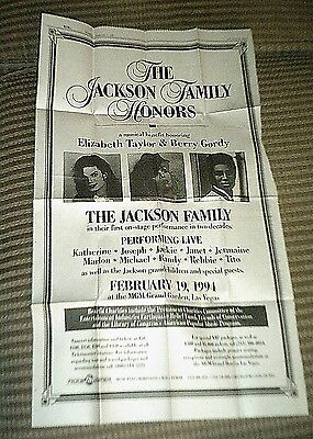 JACKSON FAMILY HONORS - Full page ad - Michael Jackson - Feb 9, 1994 -Rare- Mint
