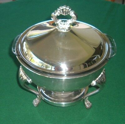 F. B. Rogers Chafing Dish with Candle Warmer, Vintage silverplate
