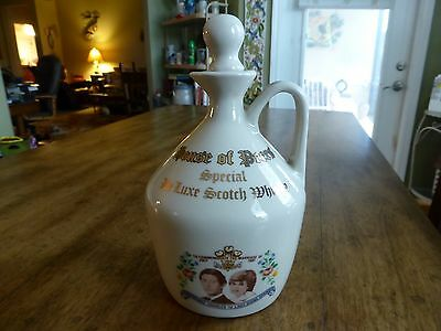House of Peers Special De Luxe Scotch Whiskey Jug - Prince Charles & Lady Diana