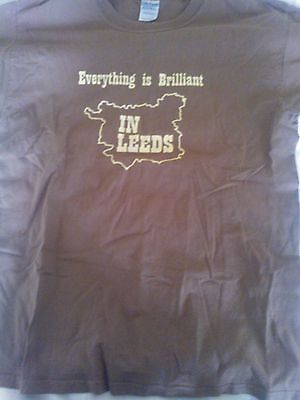 Kaiser Chiefs Everything Is Brilliant In Leeds BrownT Shirt Size L Worn but VGC