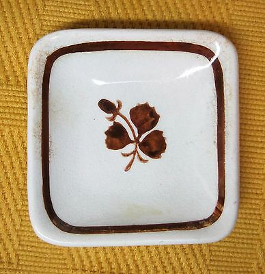Antique Tealeaf Butterpat Square Ironstone Victorian NICE! T22