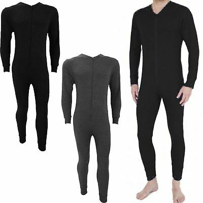 Mens Thermal Onesie All In One Underwear Set Baselayer Zip Body Suit Ski S Xxl