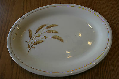 Vtg Edwin Knowles China Meat Plate Platter Wheat Pattern
