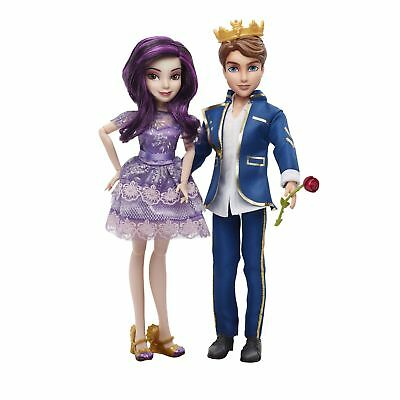 Disney Descendants Two Pack Mal Isle of the Lost and Ben Auradon Prep Dolls New