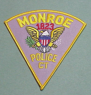 Monroe  Connecticut  Ct 1823   Police Patch   Free Shipping!!!