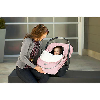 Jj Cole Car Seat Cover, Pink Weather-Resistant Nylon And Soft Fleece!! Brand New