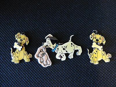 """Disney 101 Dalmations Charms  1 1/2""""  Lot Of 3  Mint"""