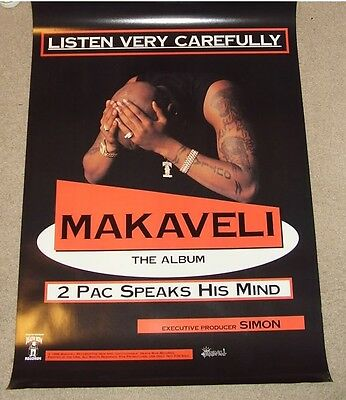 Makaveli Promo Poster 2pac vintage 1996 NEW MINT DEATH ROW 7 Day Theory Tupac