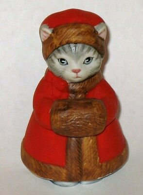 Kitty Cucumber Prsicilla In Red Christmas Coat And Muff
