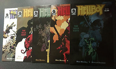 HELLBOY: THE WILD HUNT 4,5,6,7,8 - 1st PRINT (MODERN AGE 2007)