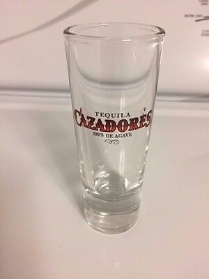 Tall Shot Glass with Heavy Base CAZADORES Tequila 100% AGAVE  16 Glasses