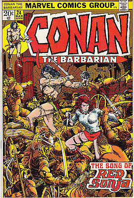 CONAN THE BARBARIAN 24 - 1st FULL APP RED SONJA (BRONZE AGE 1973) - 8.0