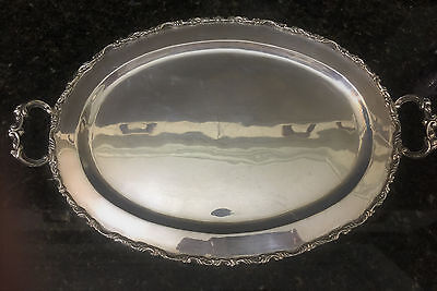 """Sterling Silver Double Handled Tray 16 1/4"""" x 10 1/4"""" by  Juventino Lopez Reyes"""