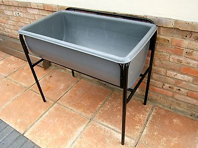 Large Sink ~ Chemical Resistant ~ Polyprop ~Blow Moulded Sink On Stand ~Portable