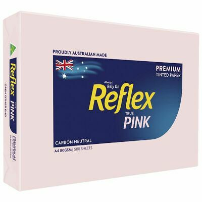 Bulk Buy - 5 x Reflex Colours 80gsm A4 Copy Paper Pink 500 Sheets
