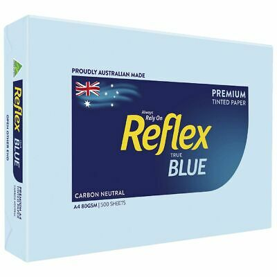 Bulk Buy - 5 x Reflex Colours 80gsm A4 Copy Paper Blue 500 Sheets
