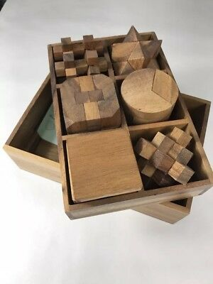 3-in-One Wooden Puzzle Games Set - 3D Puzzles for Teens and