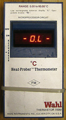 Wahl 700M Digital Thermistor Thermometer 0.00 to 60.00 °C, working, no cover