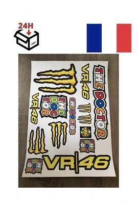 stickers rossi valentino the doctor moto voiture autocollant planche A4