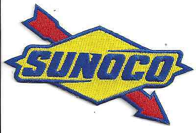 Sunoco Racing Patch 4-3/4 Inches Long Size New Iron On Embroidered US Seller