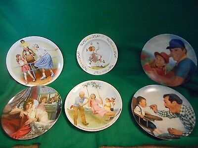 5 Knowles Plates and 1 Newell Potter Co.Collector Plates