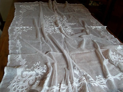 ancienne nappe application cornely blanche