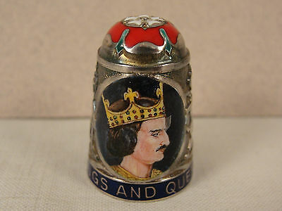 Peter Swingler Silver & Enamel THIMBLE: KING HENRY I. Kings & Queens Series