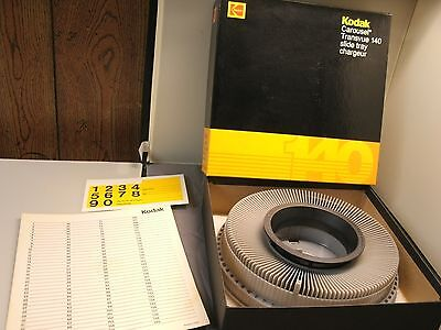 Kodak Carousel Transvue 140 Slide Tray in Original Box