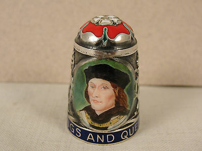 Peter Swingler Silver & Enamel THIMBLE: KING HENRY VII. Kings & Queens Series