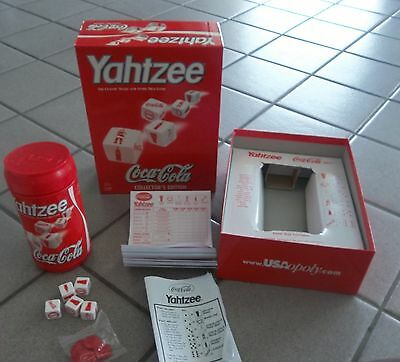 2002 Yahtzee Coca-Cola Collector's Edition USAopoly 10% complete Family Game!