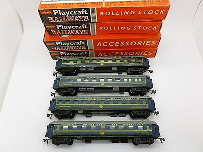 Jouef HO Gauge Rake of 4 Internazionale Cars 3 Seeping Cars 1 Restaurant inBlue