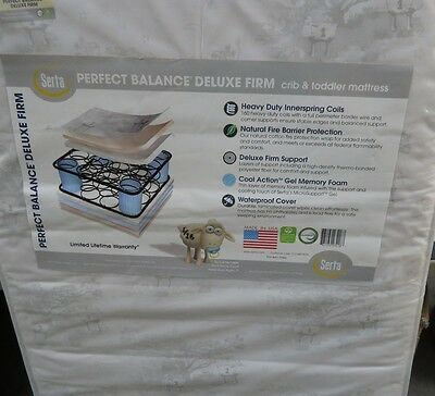 Serta  Perfect Balance Deluxe Firm Crib infant and Toddler Mattress 2- stage
