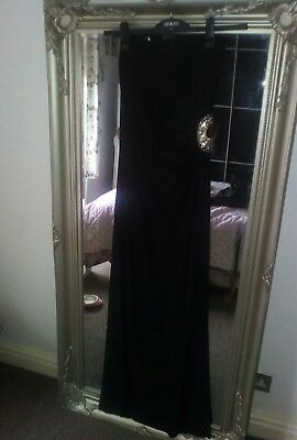 Stunning Black party, occasion, maxi dress with Diamonte detail S/M
