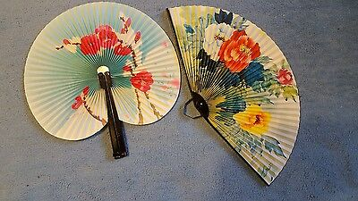 Vintage Hand Fans...lot Of Two