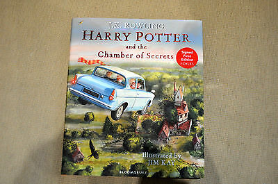 Harry Potter and the Chamber of Secrets Illustrated Signed Jim Kay 1st edition