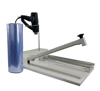 """18"""" Shrink Wrap Machine Heat Sealer System - Heat Gun and 500 ft. Film Included!"""
