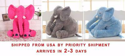 Extra Large Elephant Pillow Soft Cushion Stuffed Baby Kids Plush Doll Big Toy