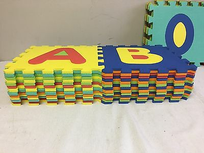 Click N' Play Foam Alphabet and Numbers Puzzle Play Mat 36 Tiles .