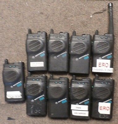 Lot of 9 Motorola VISAR - FOR PARTS