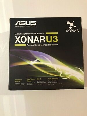Asus Xonar U3 Headphone Amp Soundcard - New And Boxed!