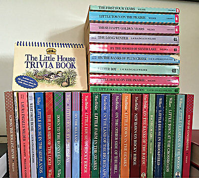 Lot of 31 Little House on the Prairie used paperback books