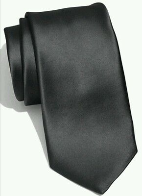 Classic black satin tie for kids toddler baby FAST SHIPPING!