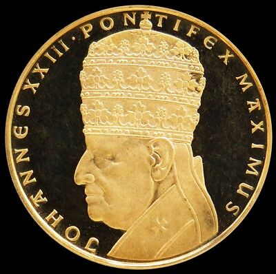 1958 GOLD VATICAN PROOF POPE JOHN XXIII CORONATION PEACE 10.5 GRAMS 25mm