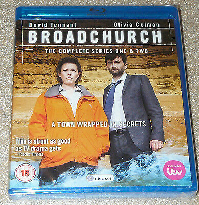 Broadchurch - Complete Series 1-2 [Blu-ray] Genuine UK Box Set Collection Sealed