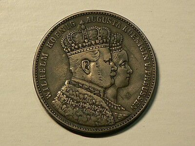 Germany Prussia 1861 A, 1 Silver Thaler, KM#488, #G5568