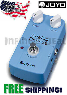 JOYO JF-37 Analog Chorus Guitar Effects Pedal True Bypass US Dealer