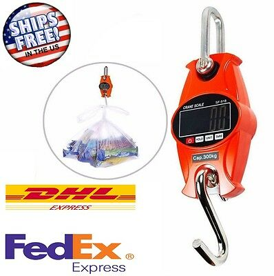 Portable Digital Hanging Scale 300 KG / 600 LBS Industrial Crane Scale - CAP-300
