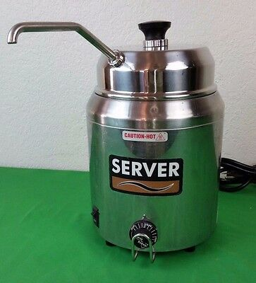 """Server Products Hot Topping Fudge Warmer Dispenser Pump Model: 82060 """"TESTED"""""""
