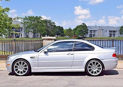 2002 BMW M3 Base Coupe 2-Door 2002 BMW M3 6MT TIAG/BLK 99K 2-OWNER FLORIDA CAR OEM 19'S CSL DECKLID XENONS