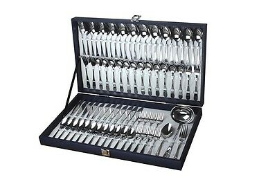 Webber & Hoffman 75pc stainless steel Cutlery set Royal collection
